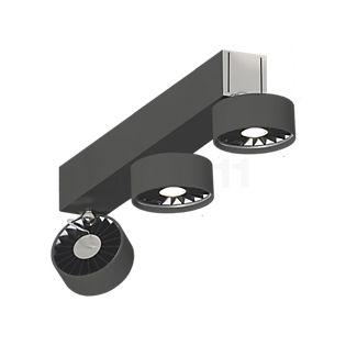 Absolut Lighting Basica Decken-/Wandleuchte 3-flammig LED schwarz