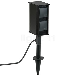 Albert Leuchten 2104 Connecting pillar with 4 sockets black - 662104