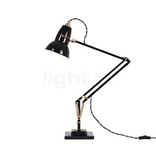 Anglepoise Original 1227 Brass, lámpara de escritorio negro