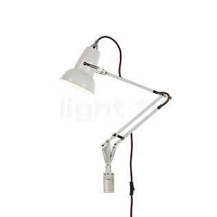 Anglepoise Original 1227 Mini, lámpara de pared con soporte mural lino blanco