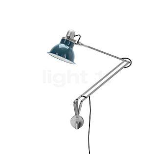 Anglepoise Type 1228, lámpara de escritorio con soporte mural blanco hielo