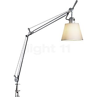 Artemide Tolomeo Basculante Tavolo with clamp parchment