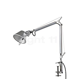 Artemide Tolomeo Micro LED with clamp polished and anodised aluminium