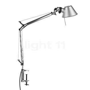Artemide Tolomeo Micro with clamp polished and anodised aluminium