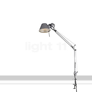 Artemide Tolomeo Mini LED with clamp polished and anodised aluminium, 3,000 K