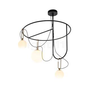 Artemide nh S4 Circular Sospensione 3 lamps brass brushed