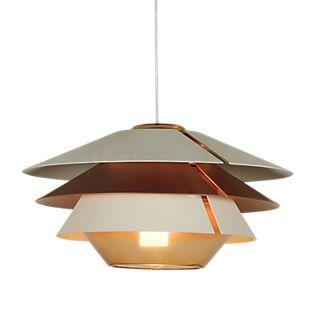 B.lux Overlay, lámpara de suspensión coñac, ø25 cm