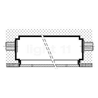 Bega 10026 - Cadre d'encastrement incolore - 10026