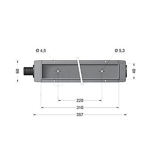 Bega 10455-Einbaughäuse für BEGA 3097 ohne Farbe - 10455