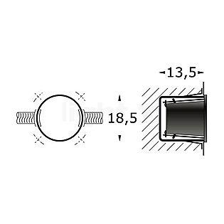 Bega 10486 - Boîtier d'encastrement pour BEGA 2125 incolore - 10486