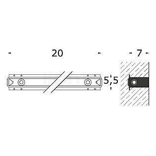 Bega 10634 - Boîtier d'encastrement pour BEGA 3381 incolore - 10634