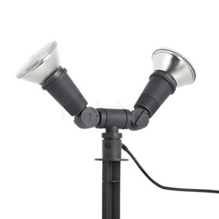 Bega 77942 - Dual Flood Light with Ground Spike graphite - 77942 , discontinued product
