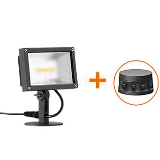 Bega Plug & Play 24364 - Spotlight LED with Ground Spike graphite - 24364K3 + 13566 incl. Smart Tower