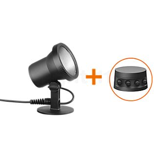 Bega Plug & Play Gartenscheinwerfer mit Erdspieß LED graphit - 24367K3 + 13566 inkl. Smart Tower