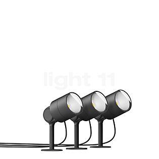 Bega Plug & Play Set da 3, Faro da giardino con picchetto LED grafite - 24366K3 + 13566 incl. Smart Tower