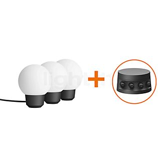 Bega Plug & Play Spheric Luminaire with Ground Spike LED Set of 3 - 24376K3 + 13566 incl. Smart Tower