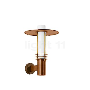 Bega Unshielded Wall Light with round Copper Reflector LED 7,2 W - 31086K3