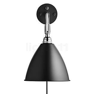 Bestlite BL7, lámpara de pared cromo negro con interruptor
