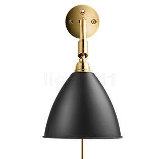 Bestlite BL7, lámpara de pared latón negro con interruptor
