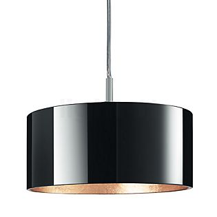 Bruck Cantara Glas 190 Down PNT Pendant Light, chrome matt incl. E-Point Ceiling Rose bronze , discontinued product