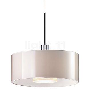 Bruck Cantara Glas 300 Down Pendant Light LED, chrome glossy white