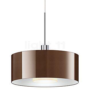Bruck Cantara Glas 300 Down Pendant Light LED dim2warm, chrome shiny bronze