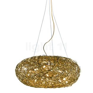 Catellani & Smith Fil de Fer Ovale Sospensione gold, ø70 cm