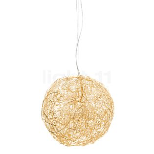 Catellani & Smith Fil de Fer Sospensione LED gold, ø50 cm