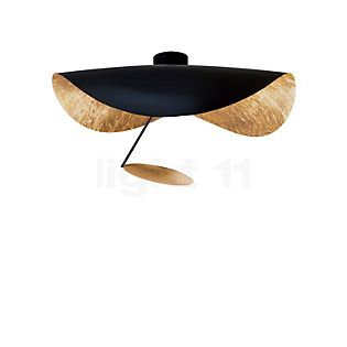 Catellani & Smith Lederam Manta CWS1 Wall-/Ceiling Light LED Disc gold, rod black, shade black/gold