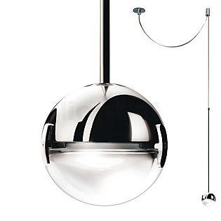Cini&Nils Convivio Suspension LED chrome avec lentille transparente