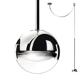 Cini&Nils Convivio Suspension LED chrome avec lentille transparente