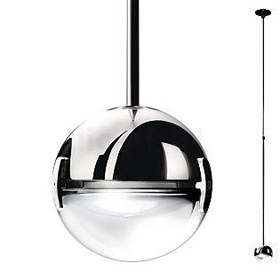 Cini&Nils Convivio, lámpara de suspensión níquel con lente arenada