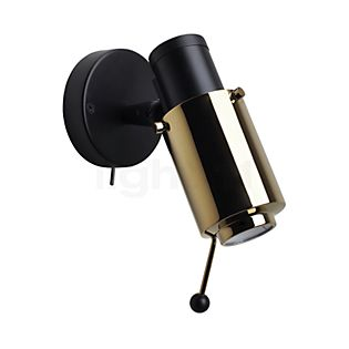 DCW Biny Spot black LED with Switch black/gold with handle