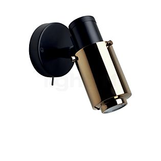 DCW Biny Spot black LED with Switch black/gold without handle