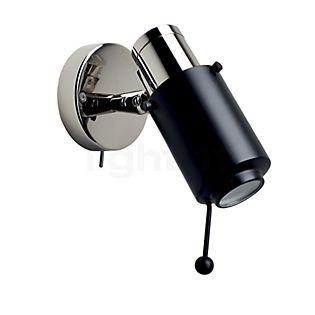 DCW Biny Spot nickel LED avec interrupteur nickel/noir avec tige d'ajustement