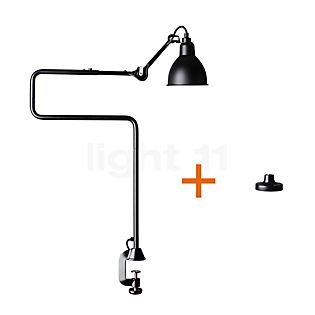 DCW Lampe Gras No 211/311 Lampe de table avec support de fixation noir