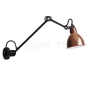 DCW Lampe Gras No 304 L 40, lámpara de pared negra cobre rústico/blanco