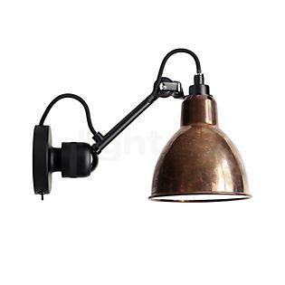 DCW Lampe Gras No 304 SW Wandlamp zwart koper ruw/wit