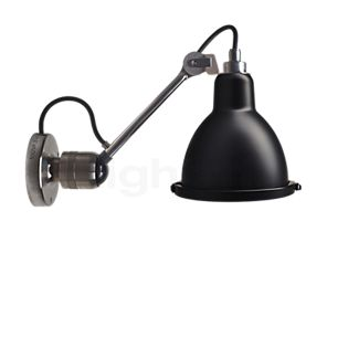 DCW Lampe Gras No 304 XL Seaside Outdoor, lámpara de pared en metal y redonda negro