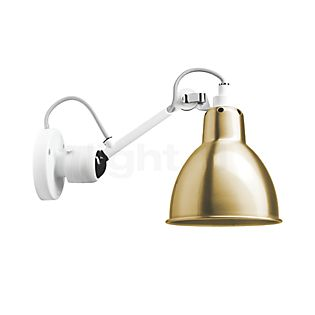 DCW Lampe Gras No 304, lámpara de pared blanca latón