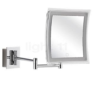 Decor Walther BS 85 Touch, espejo de aumento a pared LED cromo brillo