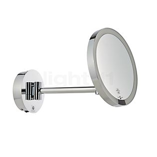 Decor Walther Just Look Miroir de maquillage mural LED avec connexion directe chrome brillant