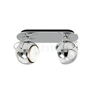 Fabbian Beluga Steel Applique/Plafonnier 2 foyers chrome