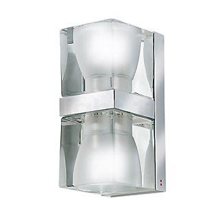 Fabbian Cubetto, lámpara de pared transparente