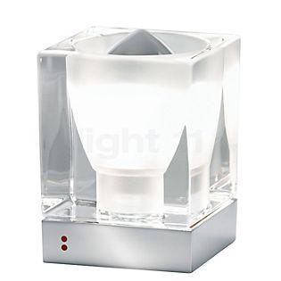 Fabbian Cubetto, lámpara de sobremesa E14 transparente