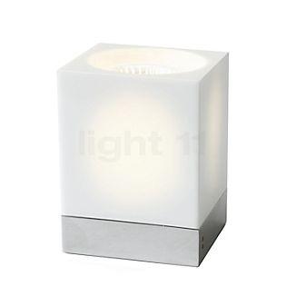 Fabbian Cubetto, lámpara de sobremesa GU10 transparente