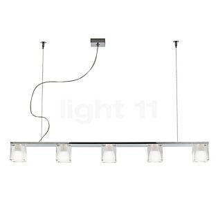 Fabbian Cubetto, lámpara de suspensión de 5 focos cristal, G9
