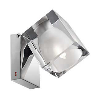 Fabbian Cubetto, lámpara de techo y foco de pared G9 transparente
