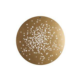 Fabbian Lens Wandleuchte ø90 cm LED Satinlack poliert