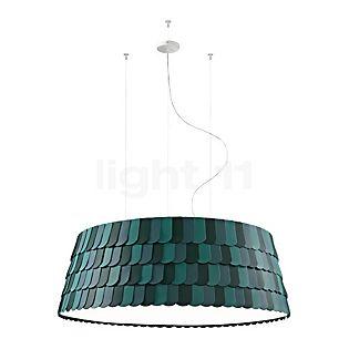Fabbian Roofer Hanglamp cilindrisch groen, ø120 cm